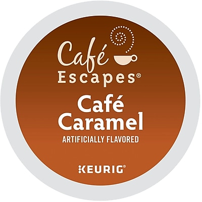 Keurig K-Cup Cafe Escapes Cafe Caramel Coffee, 24/Pack 45440