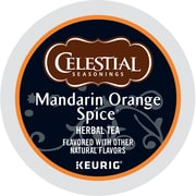 Celestial Seasonings® Mandarin Orange Spice Herbal Tea, Keurig® K-Cup® Pods, 24/Box (14735)
