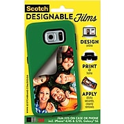 Scotch™ Designable Films, Apply to Case or Phone, For Galaxy® S6 & iPhone® 4 & 5, 1 Film/Pack