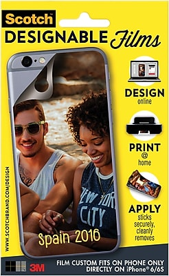Scotch™ Designable Films, Custom Fit Directly on iPhone® 6, 1 Film/Pack