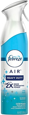Febreze® AIR™ Freshener Heavy Duty Air Freshener Spray, Crisp Clean, 8.8 oz.