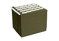 Staples® Hanging File Folders, Letter, 5 Tab, 25/Box