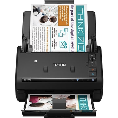 Epson - Numériseur de documents WorkForce ES-500W sans fil, noir (B11B228201)