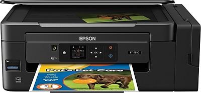 Epson® EcoTank ET-2650 Wireless Multifunction Color Inkjet Printer (C11CF47201)