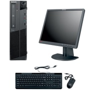 Refurbished Lenovo M91 SFF Desktop BUNDLED with 19in LCD Monitor Intel Core i3 3.1Ghz 8GB RAM 1TB HDD Windows 10 Pro