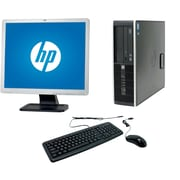 Refurbished HP 6200 Pro SFF Desktop BUNDLED with 19in LCD Monitor Intel Core i3 3.1Ghz 8GB RAM 1TB HDD Windows 10 Pro