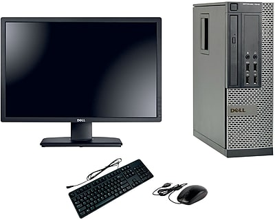Refurbished Dell Optiplex 7010 SFF Desktop BUNDLED with 22in LCD Monitor Intel Core i5 3.2Ghz 8GB RAM 2TB HDD Windows 10 Pro