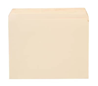 Staples® Manila File Folders, Letter, Single Tab, 100/Box