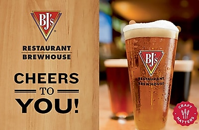 BJ's Restaurant & Brewhouse Gift Card $100 (Email Delivery)