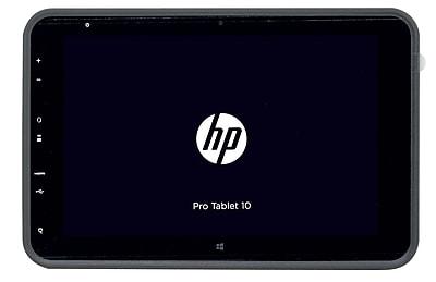 HP Pro 10.1in Tablet 10 EE G1 Intel Atom Quad Core Z37356 2GB RAM 32GB eMMC SSD Windows 8.1 Pro, Refurbished