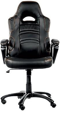 Arozzi Enzo Chair Armrests Ring-Shaped Swivel Polyurethane Leather Black