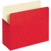 """Pendaflex® Colored File Pockets, 5.25"""" Expansion, Top Tab, Letter Size, Red (1534G Red)"""