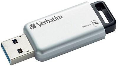 Verbatim 32GB Store 'n' Go Secure Pro Ultra 3.0 USB Flash Drive, Silver (99184)
