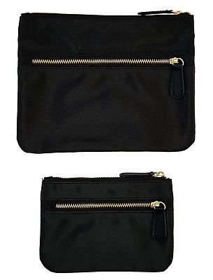 Office by Martha Stewart™, Double Zipper Pouches, Black, 2/Pack (50389)