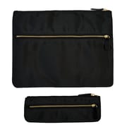 Office by Martha Stewart™, Double Zipper Pouches, Black, 2/Pack (50385)