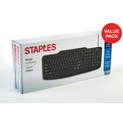 Staples Wired USB Keyboard 3 Count Value Pack