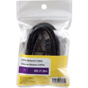 6' 100Mbps Gold Plated Cat5e Network Cable, Black