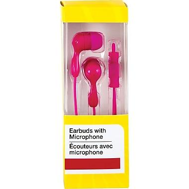 Écouteurs intra-auriculaires avec microphone, rose
