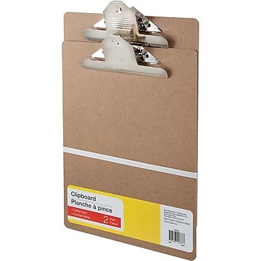 Planches à pince, format lettre, 9 po x 12 po, paq./2