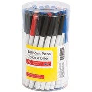 Stick Ballpoint Pens, 1.0mm, Assorted, 50/Pack