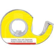 Staples® – Ruban transparent, 0,75 po x 300 po (19 mm x 7,62 m) sur mini distributeurs en forme d'escargot