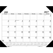 "2017-2018, House of Doolittle, 22""x17"", Academic Desk Pad Calendar, Economy Black (125-02)"