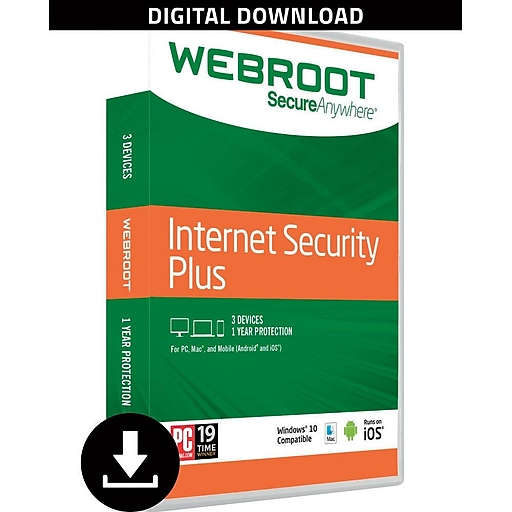 Webroot secureanywhere internet security plus with antivirus 3.