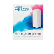 Linksys VELOP Whole Home Mesh Wi-Fi System AC2200 Tri Band Wireless and Ethernet Router, White (WHW0301)