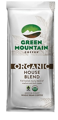 Image of Green Mountain Coffee Organic House Blend Whole Bean Bagged Coffee