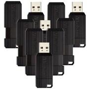 10PK 16GB PinStripe USB 2.0 Flash Drive - Black