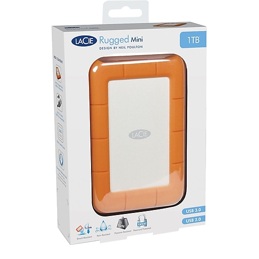 Lacie Lac9000298 2 Tb Usb 3 0 Portable Rugged Mini Hard Drive Orange Rollover Image To Zoom In Https Www Staples 3p Com S7 Is