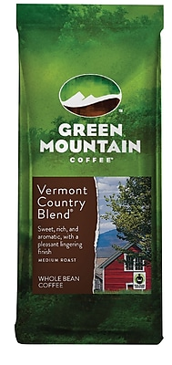 Image of Green Mountain Coffee Vermont Blend Whole Bean Bagged Coffee