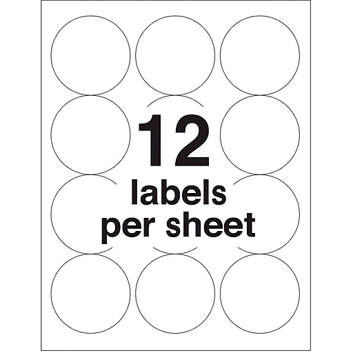Avery 25 Dia Laser High Visibility Labels White 25pack 5294