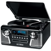 Victrola Retro Record Player Stereo with Bluetooth and USB Digital Encoding Black