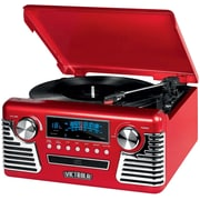 Victrola Retro Record Player Stereo with Bluetooth and USB Digital Encoding Red