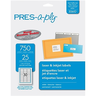 Avery® PRES-a-ply 1