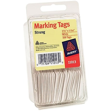 Avery® White Marking Tags, 1 3/4