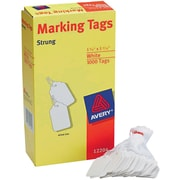 "Avery® White Marking Tags, 1 3/4"" x 1 3/32"", 1,000/Box"