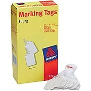 "Avery® White Marking Tags, 1 3/4"" x 1 3/32"", 1,000/Box"