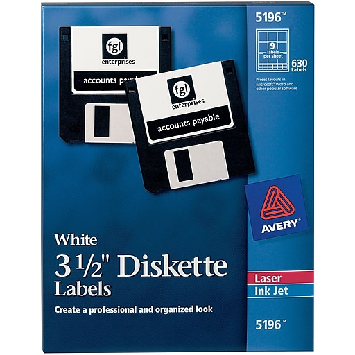 avery laser labels for 3 1 2 diskettes staples