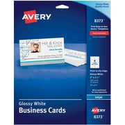 Business card template word averyreg inkjet business cards glossy white 2 x 3 12 pronofoot35fo Gallery