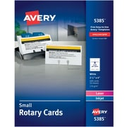 """Avery Laser Rotary Cards, White, 02-1/6"""" x 4"""", 400/Pack (05385)"""