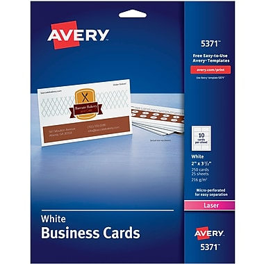 Avery Laser Business Cards White 2
