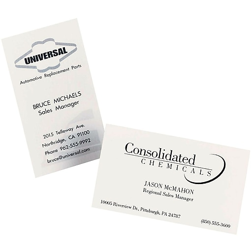 Avery laser business cards white 2 x 3 12 250cards staples httpsstaples 3ps7is reheart Gallery