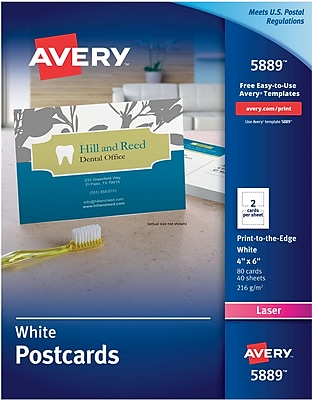 Avery® Color Laser Postcards, 4