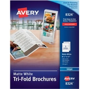 Avery Inkjet Tri-Fold Brochures, Matte Finish