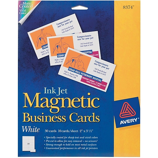 Avery inkjet magnetic business cards staples httpsstaples 3ps7is reheart