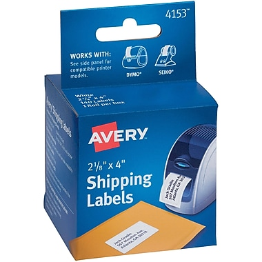 Avery(R) Shipping Labels for Dymo(R) and Seiko(R) Printers 04153, 2-1/8