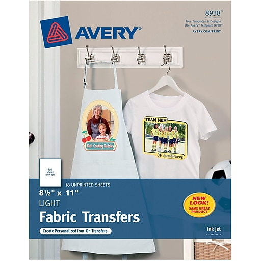 Averyr T Shirt Transfers For Inkjet Printers 8938 8 12 X 11