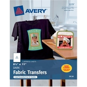"Avery® 3279 Inkjet Dark Fabric Transfer Paper, 8-1/2"" x 11"", 5/Pack"